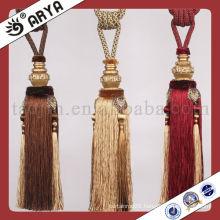 hot sale tassel tieback for curtain decor,manufacturer of tassel,curtain cord tie backs