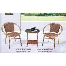 Silla de jardín de mimbre al aire libre muebles, silla de la rota,