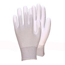 Nylon Liner Knit Wrist White Gant en caoutchouc PU