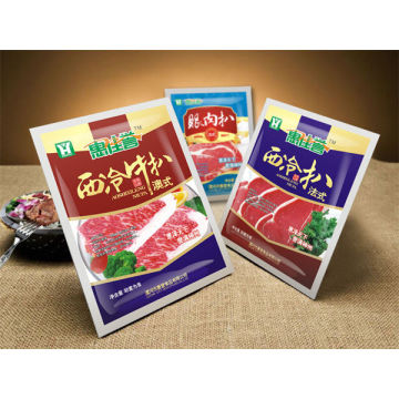 3 Side Sealed Frozen Food Packaging Bags