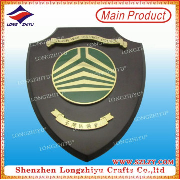 Wall Decoration Wooden Plaque with Laser Engraving Metal Plate
