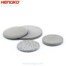 5 10 20 micron stainless steel porous metal powder sintered filter wire mesh disc