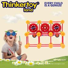 Jouets pédagogiques en plastique Magnetic Building Blocks for Children