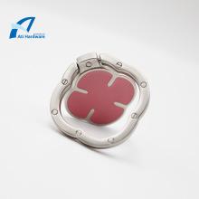 Vierblättriges Kleeblatt Design Telefon Ring Emaille Halterung