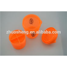 16oz hot sale, popular plastic cup with straw