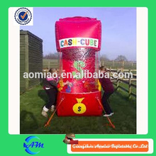 Giant inflatable money cash catching machine cheap price for sale