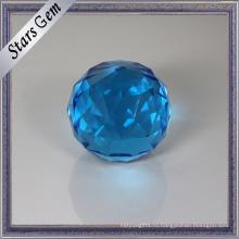 Красивый Круглый Граненый Синий Кристалл Стекла Бусины