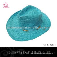 Chapéu de palha de cowboy de verão para senhoras