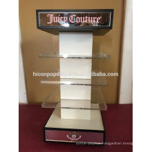 Spinning With Mirror Custom Cosmetics Store Or Eyewear Wholesale Shop Acrylic Tabletop Display Rack