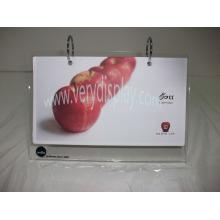 Customized desktop acrylic calendar holder