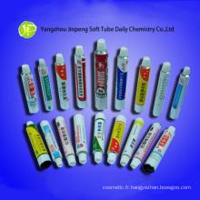 Cosmétique en aluminium Tubes Tubes médicinal onguent Tubes