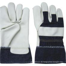 Helle Farbe voll Palm Möbel Leder halb ausgekleidet Handschuh