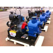 Self Priming Trash Sewage Diesel Engine Water Pump