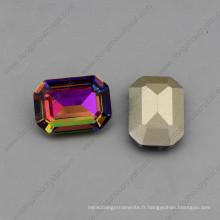 Octagon 10 * 14mm / 13 * 18mm cristal pierres lâches de bijoux (DZ-3007)