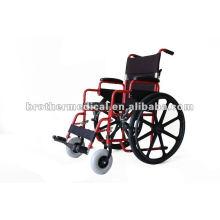 Cadeira de rodas de aço multifunções com roda traseira Mag