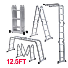 Aluminum Handrail  Folding Multi-purpose Ladder