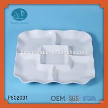 Céramique en céramique céramique en céramique type 5 assiettes, assiette carrée