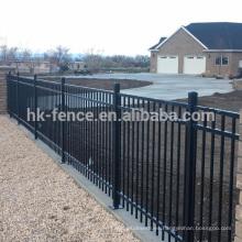 Valla de estacas de acero galvanizado de alta calidad y del mejor precio, panel de la cerca del acero del cinc dolido, cerca del tubo cuadrado