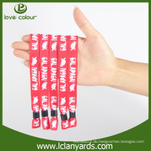 Promotion benutzerdefinierte Polyester-Design Stoff Material Armbänder