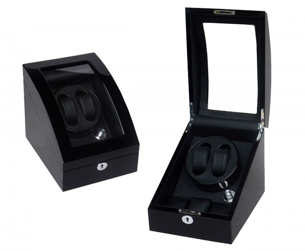 Single Rotor Wooden Watch Winder Box aus Holz