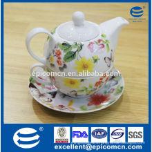 gracy home accessory porcelain tea pot set, ceramic tea set for one