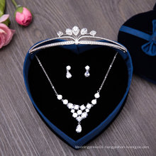 Wedding Earring Necklace Zircon Tiaras