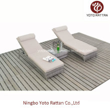 Two PCS Loungers for Outdoor with Teatable (016)