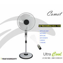 Unitedstar Newest16 '' DC Stand Fan (USSF-450) mit Fernbedienung / Licht / MP3