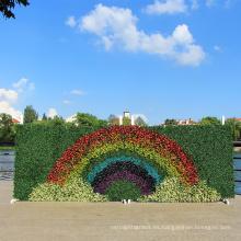 Buen diseño DIY arco iris colorido 1 * 3M plástico vertical jardín cerca