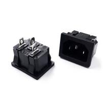 Panel Mount Plug Adapter 10A C14 3P IEC Inlet Module Power Connector Socket