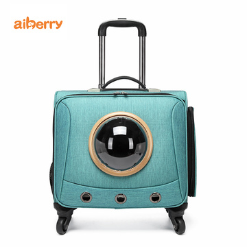 Custom Airline Pet Travel Trolley Bag Cage