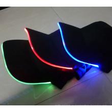 Оптовая красочные мигающий светодиодов головные уборы, светодиодные крышки snapback