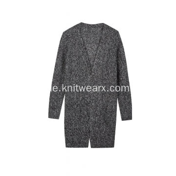 Damen gestrickte AB Yarn Buttonless Cardigan