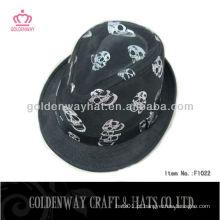 Chapéu de fedora de caveira infantil para festa