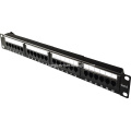 1U 24 ports patch panel with cable management