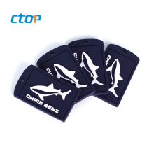 Custom High Quality Brand PVC Soft Bag Silicone Tag Logo Rubber Label
