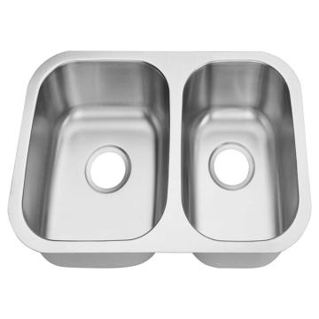 18 Gauge double bowl 60/40 sink dapur