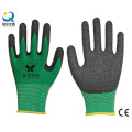 13G Poliéster Shell Latex Palm Coated Guantes de Seguridad