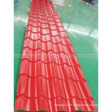Tôle de toiture en acier ondulée en acier de tuile de toit PPGI de prix usine
