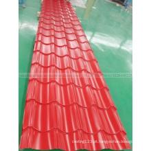 Folha de aço ondulada do telhado do metal da telha de telhado PPGI do preço de fábrica