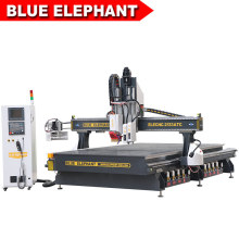 New Design Big Wood CNC Router with Auto Tool Changer for Door Manufacturer