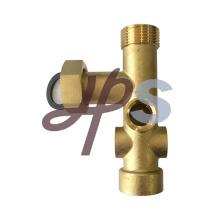 Poutre en laiton de 7 manières avec l'union pour le système de collecteur en laiton de plancher chauffant