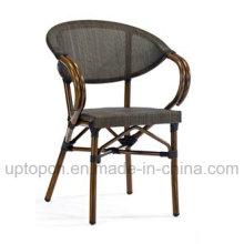 Stackable Outdoor Aluminum Frame Chair with PE Rattan for Garden Restaurant (SP-OC373)