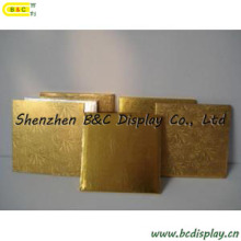 Embossing Gold Foil Paper Rectangle Cake Drums for Houshould Use with SGS (B&C-K048)