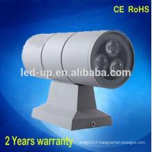 Vente en gros haute qualité en acier inoxydable 110V 240V haut et bas conduit applique murale