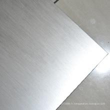 Plaque Inconel 600 plaque nickel brossé