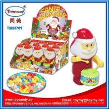 Plastic Santa Drummer Kids Toy with Candy