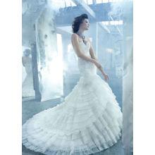 Vestidos de novia de la falda de la colmena de la falda del cordón del Neckline del amor atractivo sirena (WDJL-1028)
