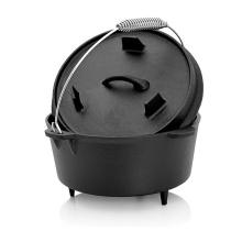 Three Legged Pot Pre-Seasoned Cast Iron Camping Dutch Oven