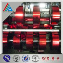 Polyester-Metallisierter Silber / Gold-Laminierfolie / Metallisierter Silber PET-Thermo-Laminierfolie